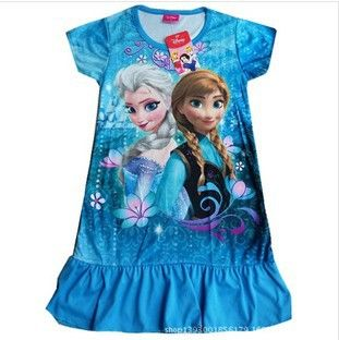 Blue Frozen Dress, Swimwear, Ana Elsa Dress, Girls Dress