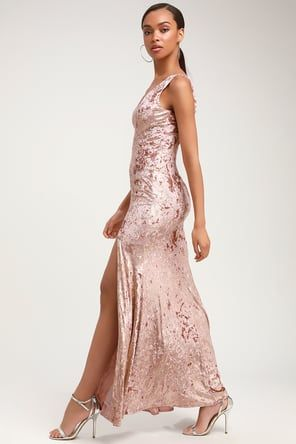 ef9852adbac Stunning Sequins Dress - Burgundy and Rose Gold Dress