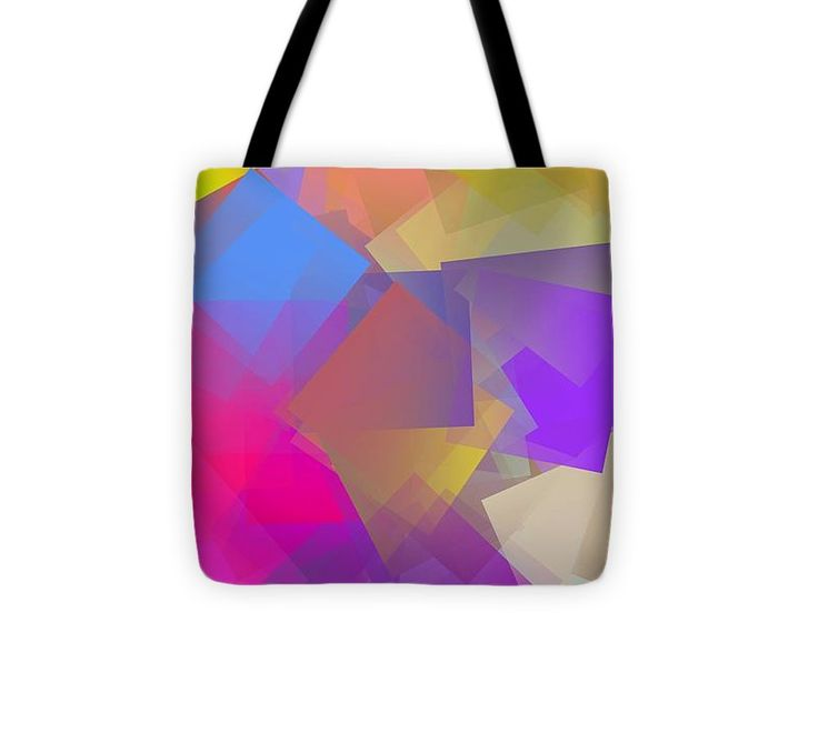 Cubism Abstract 166 Tote Bag #totebag #bag #abstract #colorful #design #art #Lifestyle