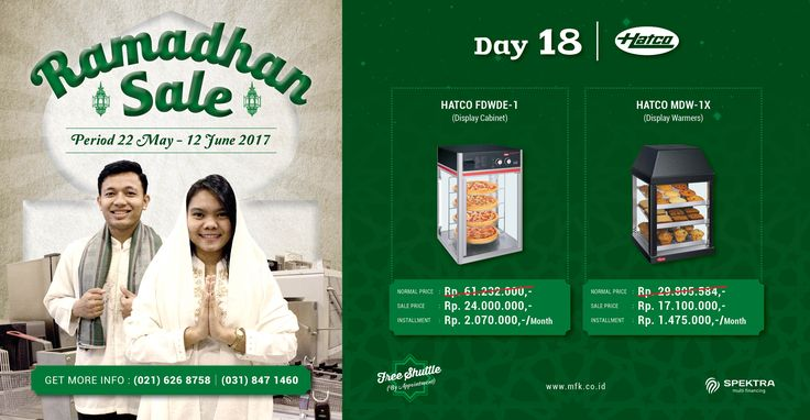 Day 18 Ramadhan Sale : Get your Hatco display and warmers with special price! #ramadhansale #hatco