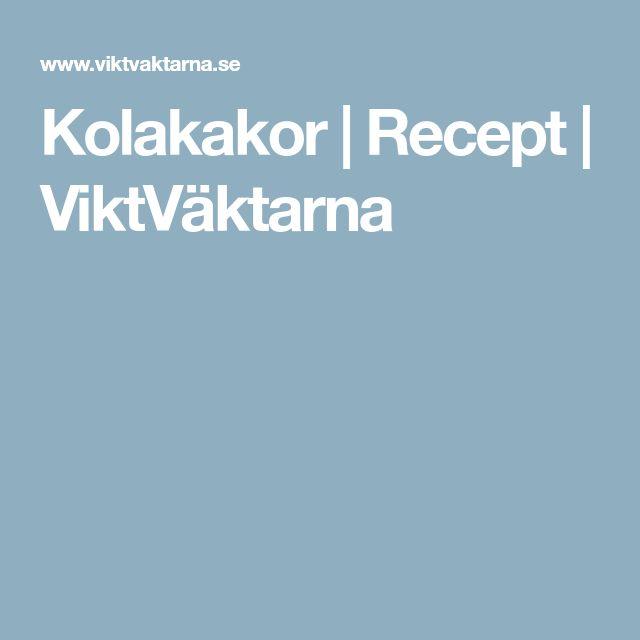 Kolakakor | Recept | ViktVäktarna