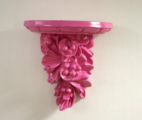 Ornate Pink Wall Shelf