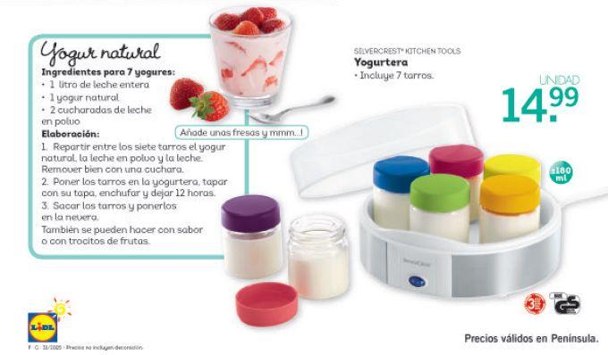 "Catálogo Lidl: Yogurtera ""Silvercrest"" de Lidl + Receta de Yogur ..."