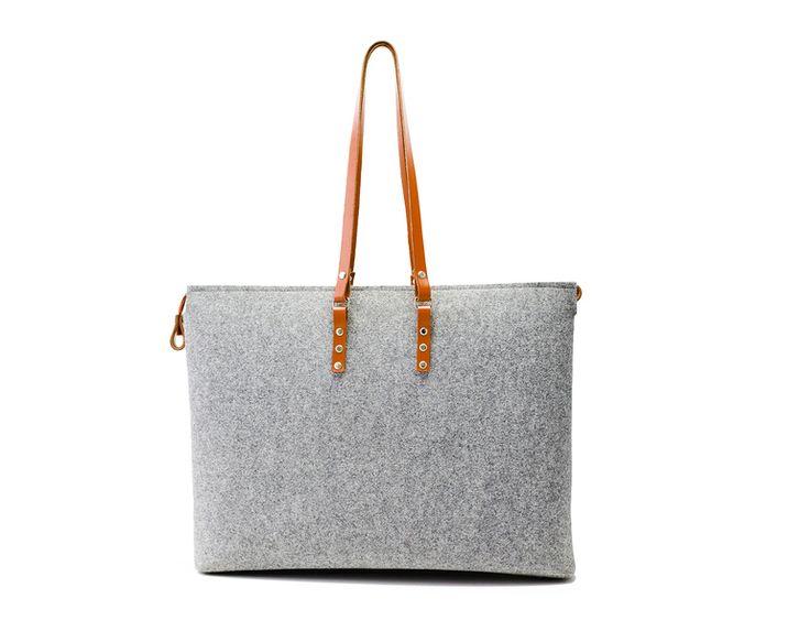 Hecho+a+mano+bolsa+de+fieltro+de+popeq+design+por+DaWanda.com