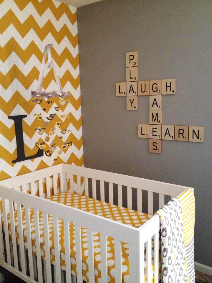 nursery decor large scrabble tiles smartbaby babyroom