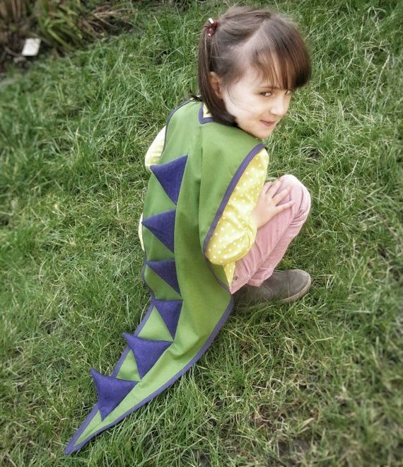 Dinosaur Cape  Dragon Cape  Dinosaur Dress Up  by AisforAliceShop