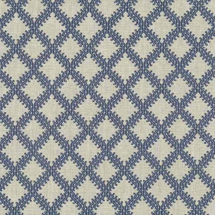 Warwick Fabrics : LIMOGES, Colour CORNFLOWER