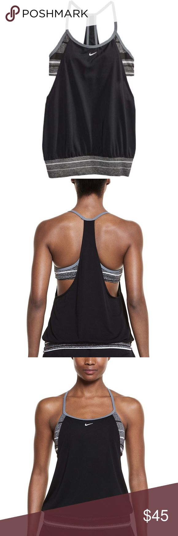 NWT Women's Nike Filtered Sport 2-In-1 Tankini Top Brand new with tags! Women's Nike 2 in 1 Swimsuit AND Tank Top with Built in Padded Sports Bra in size Medium. $ 64.99 plus shipping - deal for you! Product Details From the paddle board to the yoga mat, this women's 2-in-1 tankini top from Nike is a hot-weather essential. PRODUCT FEATURES Perfect for high-impact exercise 2-in-1 design features an attached bikini top underneath a tankini top Solid tankini, striped bikini Racerback FIT…