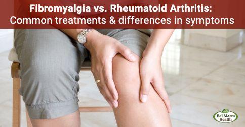 Fibromyalgia vs. rheumatoid arthritis differences and comorbidity.   #Fibromyalgia #RA #Arthritis