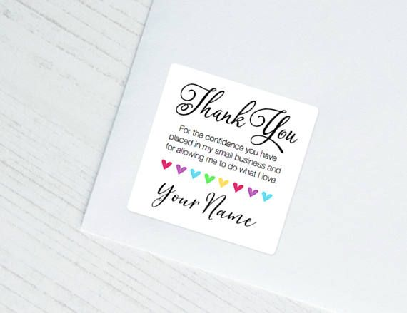 BEST SELLER! Thank You Note Sticker Happy Mail Stickers for small
