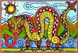 Image result for taniwha artwork primary