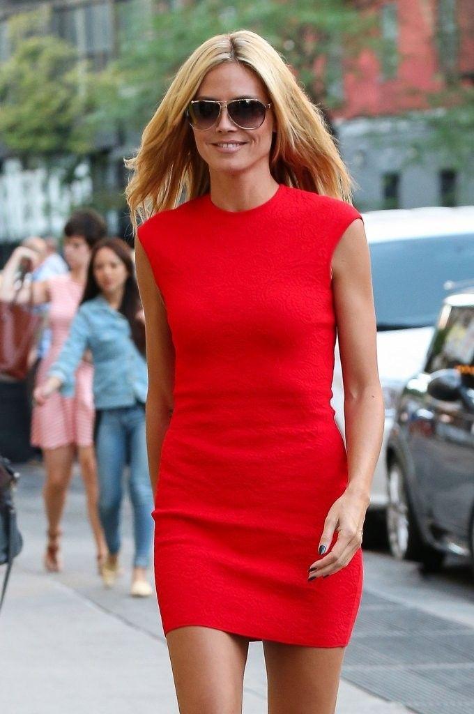 Heidi Klum Photos: Heidi Klum Rocks Red in NYC