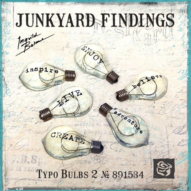Junkyard Findings by Ingvild Bolme - Prima Typo Bulbs 2 Industrial embellishments