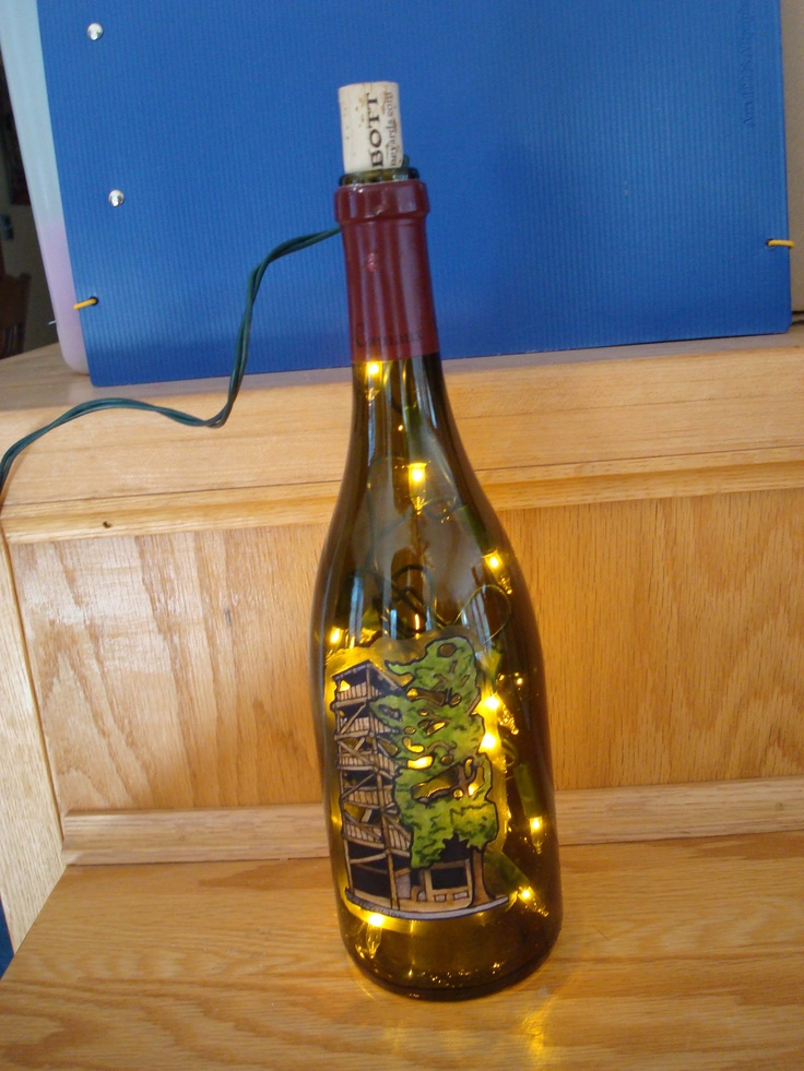 23 best ideas about unique hand painted rhode island wine for How to cut a bottle with fire