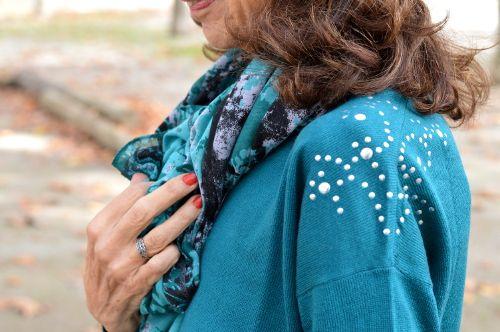 Notre petit pull clouté joliment porté par http://www.liveloveandcook.fr