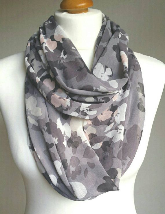 Hey, I found this really awesome Etsy listing at https://www.etsy.com/uk/listing/290185927/floral-scarf-chiffon-infinity-scarf