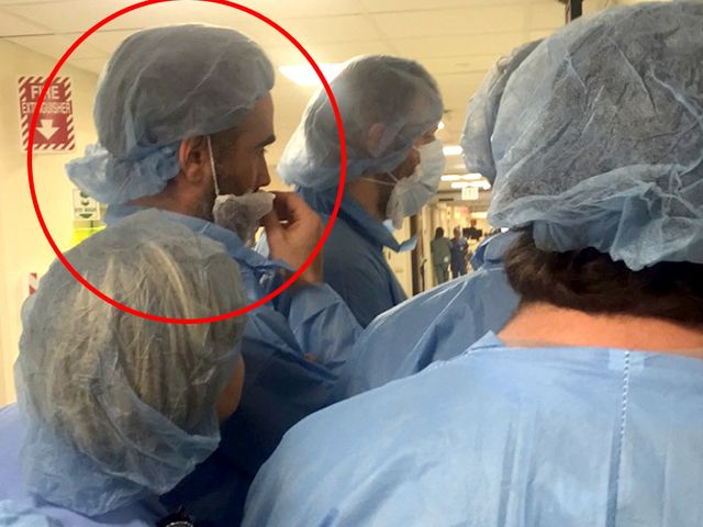 A surgeon at Christ Hospital showed actor Colin Farrell the way to someone's heart for his upcoming role.