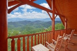 Incredible view from the deck of our Great Smoky Mountain cabin rentals.