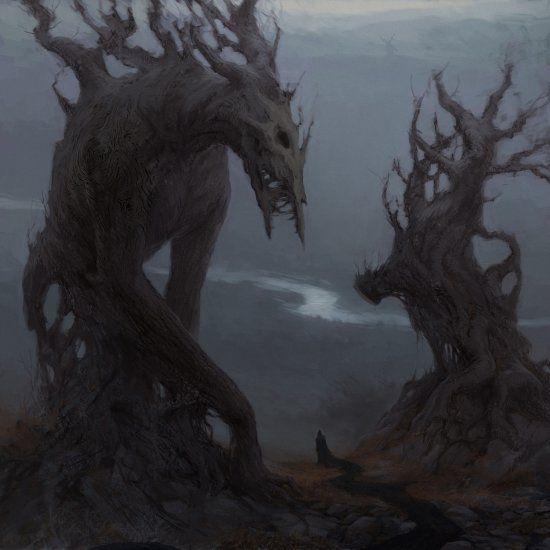 As sombrias ilustrações de fantasia e terror de Artem Demura