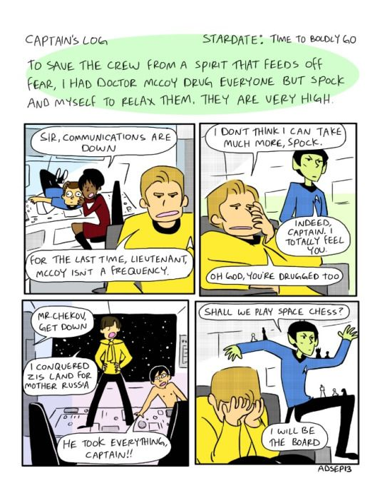 Star Trek TOS Fan art: I'm laughing way too much