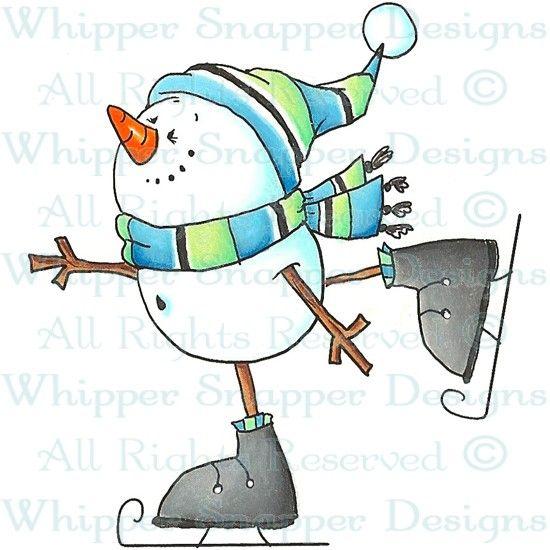 Snowman Skater - Snowmen Images - Snowmen - Rubber Stamps - Shop