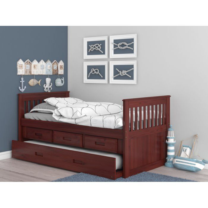 Trumble Twin Sleigh Bed With Drawers Twin Sleigh Bed Toddler