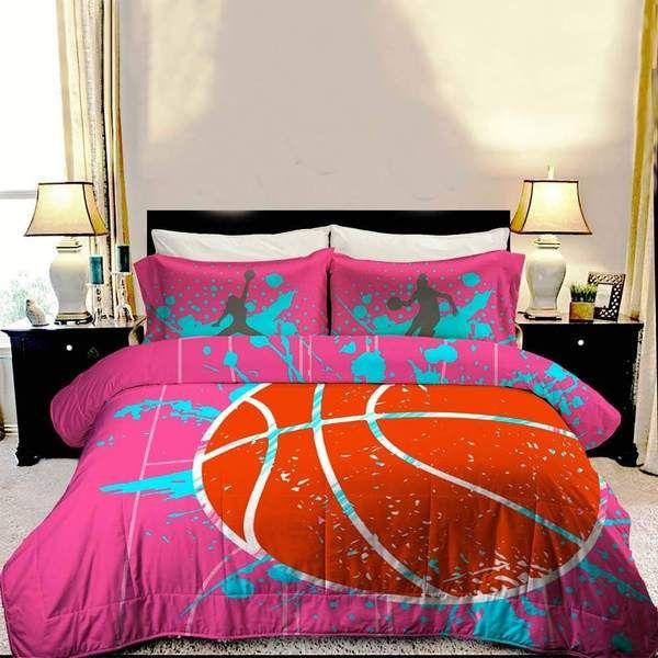 Girls Basketball Bedding In 2020 Basketball Bedroom Basketball