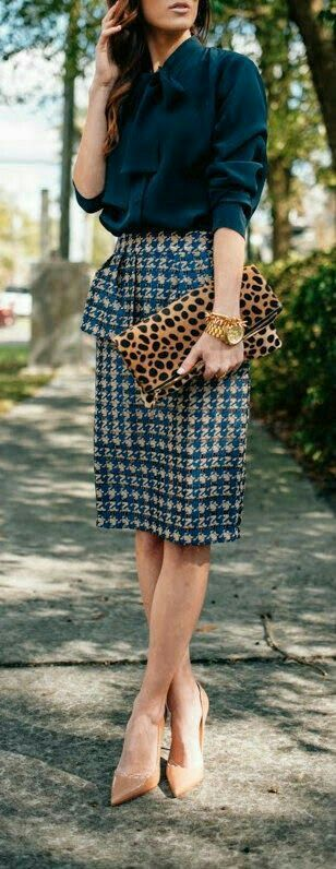 Large print houndstooth