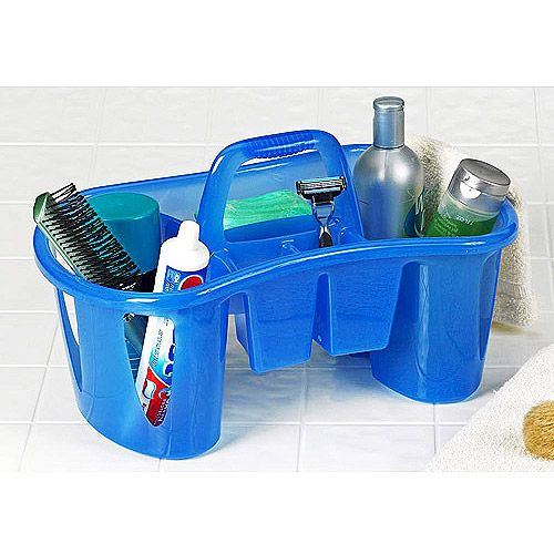 Dorm Bathroom Caddy: Unique Compartmentalized Bath Caddy, Sapphire Blue