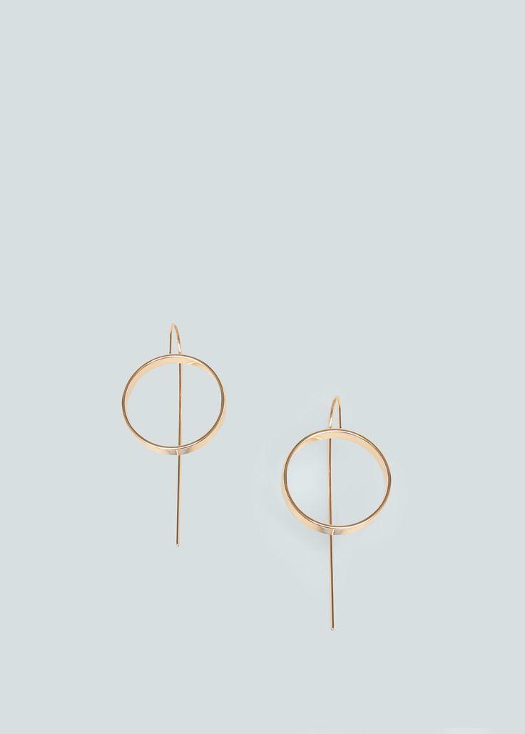 Hoop earrings - Dresses for Woman | MANGO Lithuania