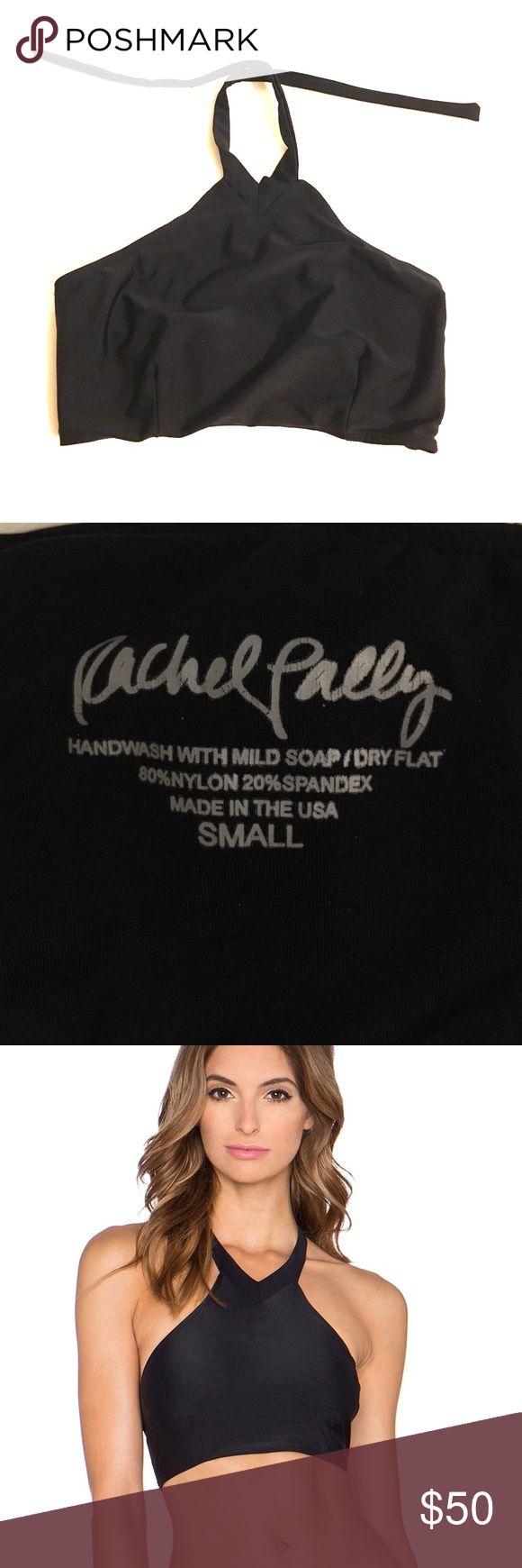 Black Rachel Pally Galapagos high neck bikini top Black Rachel Pally Galapagos high neck bikini top.  Worn a few times.  Size small. Rachel Pally Swim Bikinis
