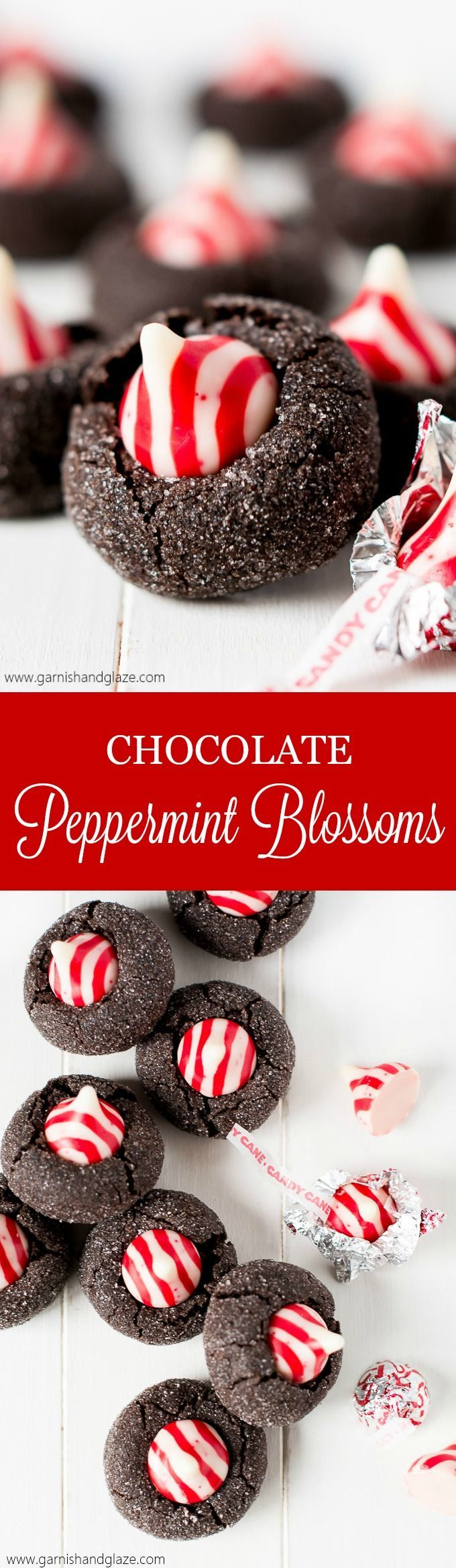 With a soft dark chocolate cookie base and peppermint kiss, these Chocolate Peppermint Blossoms will be the most beautiful cookie on your Christmas plate! Plus, enter the GIVEAWAY to win one of TWO $100 Amazon Gift Cards!