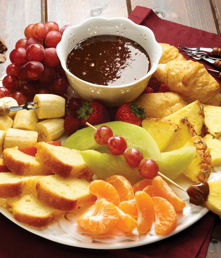 Toblerone Fondue Recipe. #SaveOnFoods #Recipe #Toblerone #Fondue #Dessert