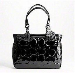 Coach Patent Embossed Tote Black Handbag – Coach « Holiday Adds