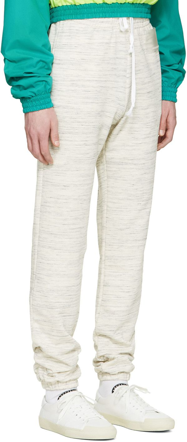 gosha rubchinskiy pantalon de surv tement blanc cass spacedye sweat pants gris pantalon. Black Bedroom Furniture Sets. Home Design Ideas