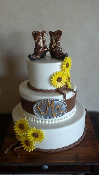 Sunny Days Cakes.... western wedding cake