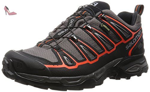 Salomon X Ultra 2 GTX W, Chaussures de Randonnée Femme, Gris (Grey Denim/Deep Blue/Melon Bloom), 42 EU