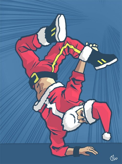 Mikołaj prezenty już wszystkie rozdał teraz może już tańczyć ;)