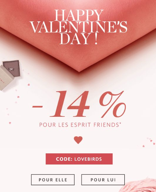 Esprit Newsletter Happy Valentine's day!