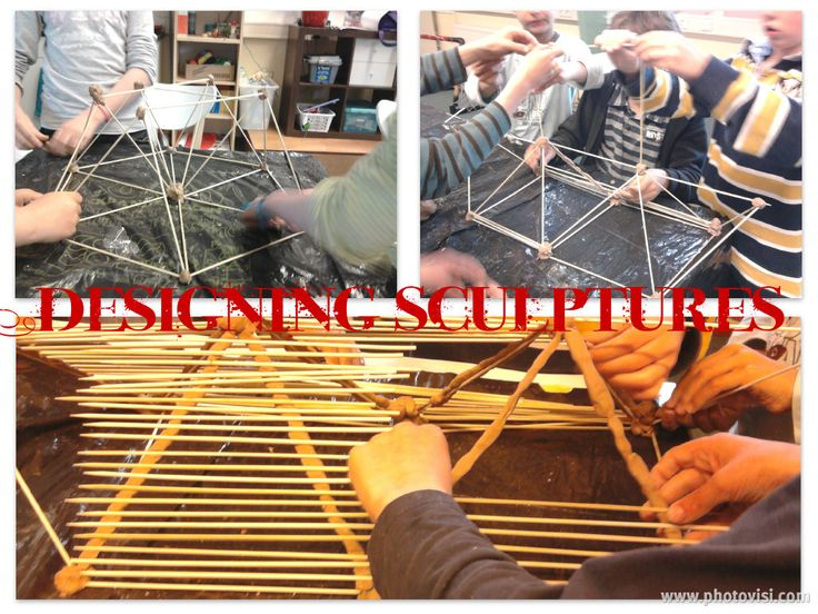 Making sculptures from skewers and steatite