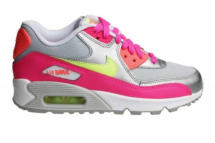 Nike Air Max 90 Mesh (GS) sneakers voor dames en meisjes. Zomerse  kleurencombinatie