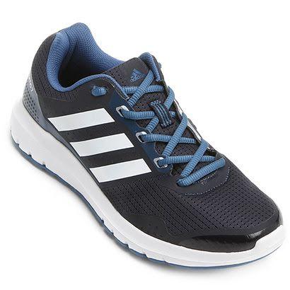 Tênis Adidas Duramo 7 Feminino Preto e Azul   Netshoes