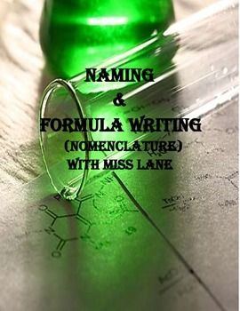 This includes instructional pages with examples and worksheets with the various types of compounds. This packet includes Ionic, Covalent, Acids, Hydrates, and the Old naming system. I do this unit typically over the course of days with about 2 pages per day.