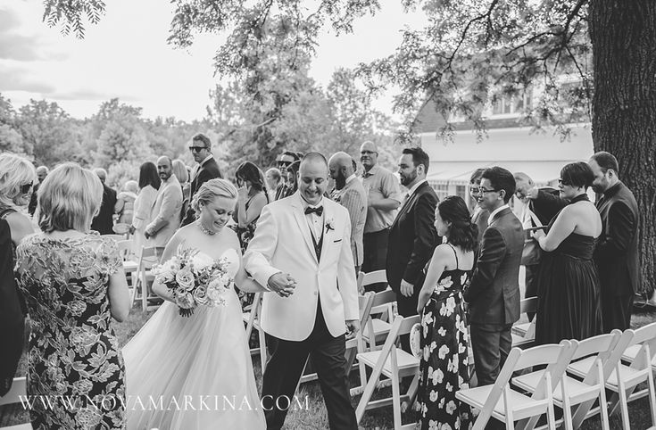 Celebrated by Family and Friends || Romantic and Sweet Outdoor Ceremony || NovaMarkina Photography || See more of this Langdon Hall Wedding here: http://www.novamarkina.com/blog/langdon-hall-wedding-photography-sara-chris