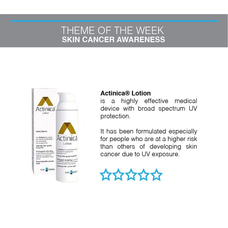 Actinica lotion has been formulated especially for people who are at a higher risk developing skin cancer. Shop here https://www.dermacaredirect.co.uk/actinica-lotion.html?utm_content=buffer9ae2e&utm_medium=social&utm_source=pinterest.com&utm_campaign=buffer