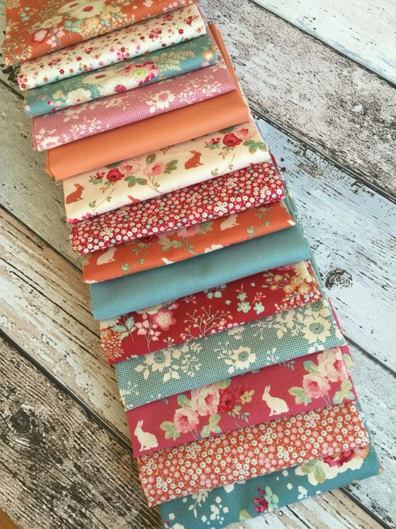 Tilda NEW limited edition CABBAGE ROSE 14 x fat quarter fabric range