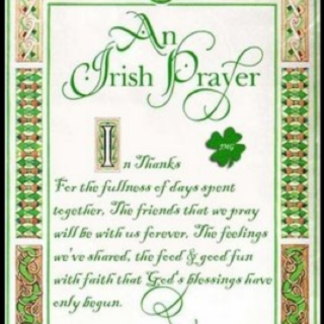 The Prayer of St. Patrick  I arise today Through the strength of heaven; Light of the sun, Splendor of fire, Speed of lightning, Swiftness of the wind, Depth of the sea, Stability of the earth, Firmness of the rock.  I arise today Through God's strength to pilot me;