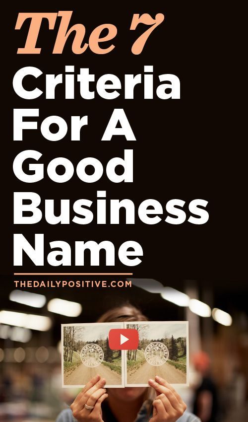 Business naming tips - brilliant article from Dale Partridge