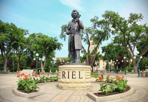 Louis Riel. Memorial Park, Winnipeg, Manitoba. 35 Million Directors