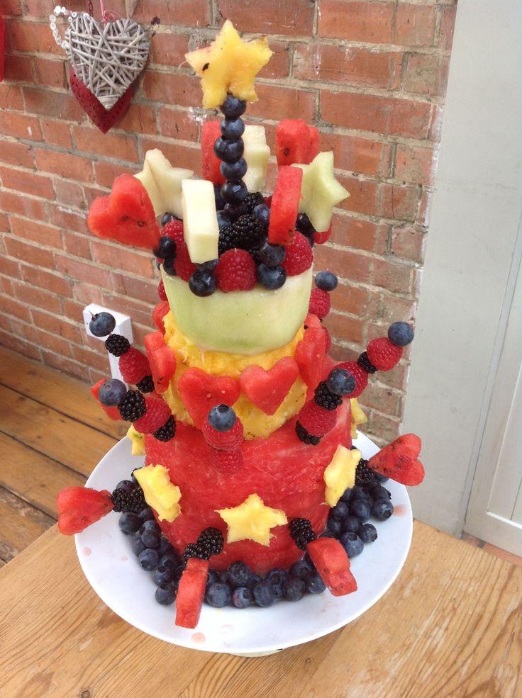 how to make a fresh fruit birthday cake